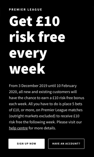 Smarkets Offer - £10 Risk-Free Every Week